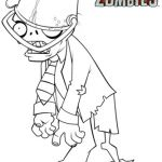 Plants Vs Zombies Coloring Book Inspiration Plants Vs Zombies Buckethead Zombie Coloring Page