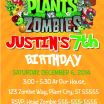 Plants Vs Zombies Pictures Inspirational Pretty Plants Vs Zombies Invitation Template S Plants Vs