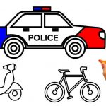 Police Car Coloring Pages Inspiring Learn Colors for Kids with Police Car Coloring Pages Vehicles