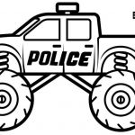 Police Car Coloring Pages Marvelous Coloring Books Coloring Books Grave Digger Monster Truck Page for