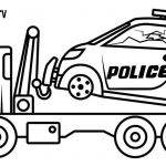 Police Car Coloring Pages Pretty Police Truck Coloring Pages at Getdrawings