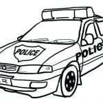 Police Car Coloring Pages to Print Awesome Car Drawing for Preschoolers