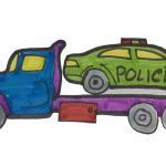 Police Car Coloring Pages Wonderful How to Draw A Police Car Coloring Pages Learn Colors for Kids