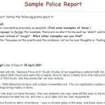 Police Car Template Inspirational Free Incident Report Template Police Printable Blank Mock Sample