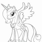 Pony Coloring Pages Wonderful Pics Princess Celestia Download New Pics Princess Celestia