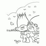 Poppy Coloring Pages Beautiful Trolls Holiday Coloring Sheets