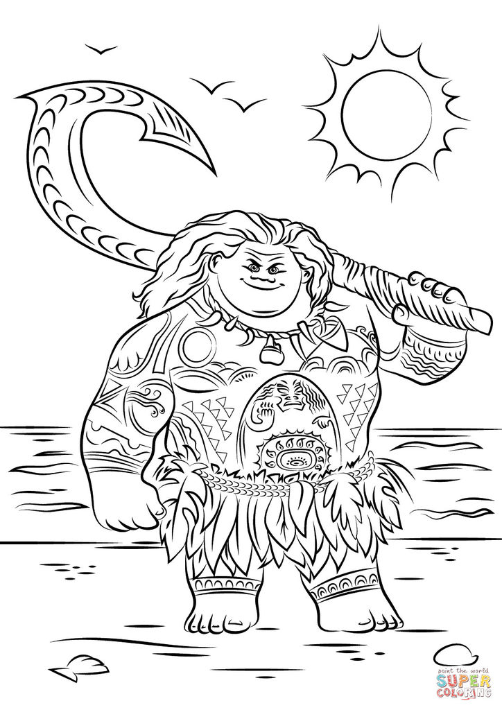 Princess Coloring Online Marvelous Moana Coloring Pages