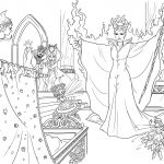 Princess Coloring Pages Online Creative Maleficent Curses the Infant Princess Coloring Page