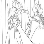 Princess Coloring Pages Online Inspiration Anna Griffin Coloring Pages Princess Elsa and Baby Line Games Name