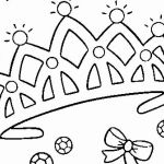 Princess Coloring Pages to Print Awesome New Princess with Crown Coloring Page – Fym