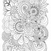 Printable Adult Coloring Unique Flowers Abstract Coloring Pages Colouring Adult Detailed Advanced