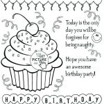 Printable Birthday Coloring Pages Exclusive Free Printable Happy Birthday Coloring Sheets – Psubarstool