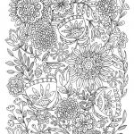 Printable Coloring Pages for Adults Abstract Marvelous Coloring Free Printable Coloring Pages for Adults Advanced Flowers