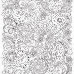 Printable Coloring Pages for Adults Pdf Creative Zentangle Art Coloring Page for Adults Printable Doodle Flowers