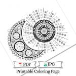 Printable Coloring Pages for Adults Pdf Wonderful Doodle Moon and Sun Adult Coloring Page Printable Celestial
