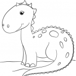 Printable Dinosaur Coloring Pages Inspiration Coloring Page Coloring Page Cute Cartoon Dinosaur Free Printable