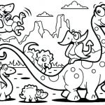 Printable Dinosaur Coloring Pages Inspired Dinosaur Color Page – Donkeydiaries