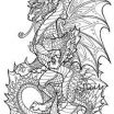 Printable Dragon Coloring Pages for Adults Amazing 124 Best Dragon Coloring Page Images In 2019