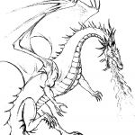 Printable Dragon Coloring Pages Inspiration Dragon Coloring Pages at Getdrawings