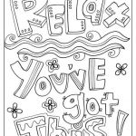 Printable Educational Coloring Pages Exclusive Free and Printable Quote Coloring Pages Perfect for the Classroom
