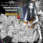 Printable Fairy Coloring Pages Awesome Set 1 Advanced Grayscale Printable Coloring Pages Bohemian