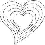 Printable Heart Shape Awesome Heart Template with Lines Shaped – Rprsnt
