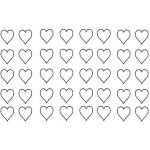 Printable Heart Shape Excellent Free Printable Hearts Labels Heart Border Templates Template