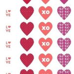 Printable Heart Shape Inspiration Happy Valentines Day Greeting Card Template Design with Emboss Text