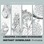 Printable Horse Coloring Pages Fresh D I Y Book Mark Prints Instant Download Bookmark Coloring Horse