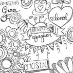 Printable Jesus Coloring Pages Inspired Chosen Delivered forgiven and Amazing Grace Coloring Page