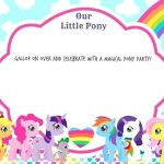 Printable My Little Pony Best Download now Updated Free Printable My Little Pony Birthday