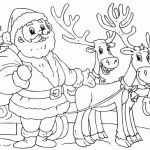 Printable Picture Of Santa Claus Amazing Santa Claus and Reindeer Coloring Pages