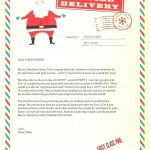 Printable Picture Of Santa Claus Creative Word A Personalized Letter From Free Letters Templates Word Free