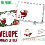 Printable Picture Of Santa Claus Inspired Free Templates Printable Santa Envelope Template Claus – Skrecharge