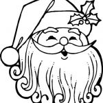 Printable Picture Of Santa Claus Inspired Santa Claus Face Coloring Pages Az Coloring Pages