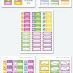 Printable Pictures Of School Supplies Amazing Free School Book Label Templates Labels Printable Designer Address