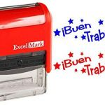 Printable Pictures Of School Supplies Inspiration Amazon Buen Trabajo Excelmark Self Inking Two Color Rubber