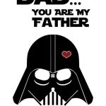 Printable Star Wars Masks Inspiring Star Wars Inspired Father S Day Card Printable
