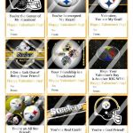 Printable Steelers Logo Inspiration Pittsburgh Steelers Valentines Day Cards Sheet 4 Instant