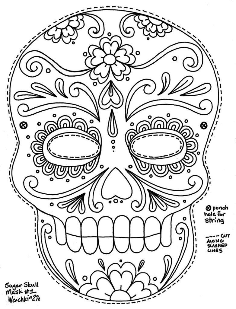 image about Printable Sugar Skull named 41 Amazing Visuals Of Printable Sugar Skull Mask www