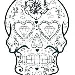 Printable Tattoo Coloring Pages Amazing Simple Sugar Skulls – Homebeautiful