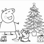 Printables Peppa Pig Creative Printable Coloring Pages Christmas Decorations New Cute Pig Coloring
