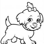 Puppies and Kittens Coloring Pages Creative Puppy Coloring Pages Dog Stencil