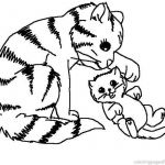 Puppies and Kittens Coloring Pages Inspiration Kitten Coloring Pages