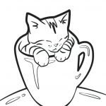 Puppies and Kittens Coloring Pages Pretty Kitten Coloring Pages – Trustbanksuriname