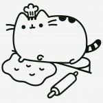 Pusheen Coloring Book Inspiring Line Colouring Pages for Kids Disney Inspirational Kawaii Coloring