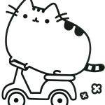 Pusheen Coloring Book Pretty Cat House Cartoon Coloring Page