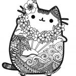 Pusheen the Cat Birthday Exclusive Pusheen Cat Coloring Pages