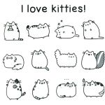 Pusheen the Cat Coloring Pages Excellent Pusheen Cat Coloring Pages Awesome Pretty Big Cats Coloring Pages S