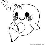 Pusheen the Cat Coloring Pages Pretty Pusheen Cat Coloring Pages Best Cute Baby Narwhal Coloring Page